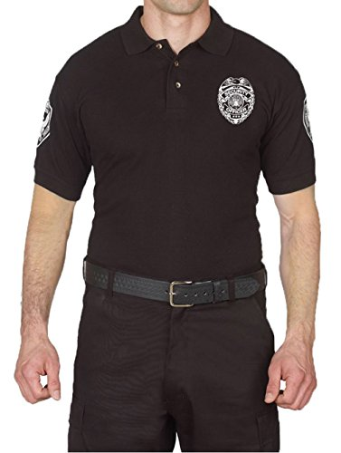 First Class Poly Cotton Security Short Sleeve Polo Shirts (Small, Short Sleeve) Kansas