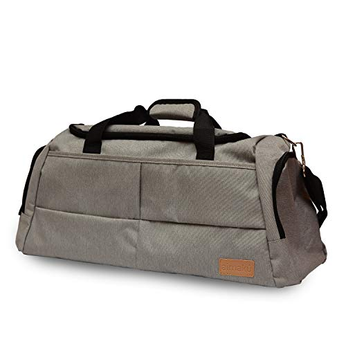 Ryanair Hand Luggage, Easyjet, Premium Quality Travel Bag Best Buy, Waterproof Fabric, Organizer, Second Trip, Airplane, Gym, Pool, Cabin, Hard Bottom, Suitcase, Flight, Cabin. silver 50*25*27
