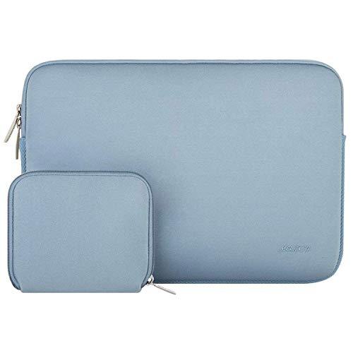MOSISO Wasserabweisend Neopren Hülle Sleeve Tasche Kompatibel mit 13-13,3 Zoll MacBook Pro, MacBook Air, Notebook Computer Laptophülle Laptoptasche Notebooktasche mit Kleinen Fall, Air Blau