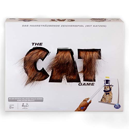 Spin Master Games 6046729 - The Cat Game, haariges, kreatives Ratespiel mit Katzen