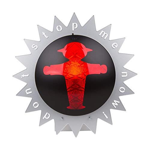 AMPELMANN Ampelleuchte Zacke | Wand- und Tischlampe | Steher - Don't stop me now durch. 30cm metallic silber Acryl 240 Volt max 60 Watt, Fassung E14 inkl Leuctmitttel