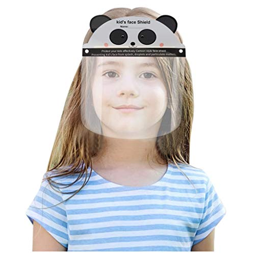 YKA Panda Face_Shields for Kids and Adults. Cute Reusable Face_Masks for Children Comfortable, Durable and Easy to Clean. Made in USA