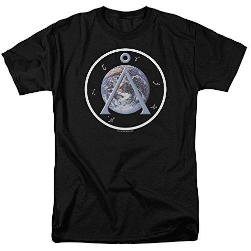 Trevco Men's Sons of Anarchy Jax Block Adult T-Shirt, Black/SG118, Small