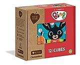 Clementoni- Play for Future-Bing Puzzle Cubi, 12 Pezzi, Multicolore, 45007