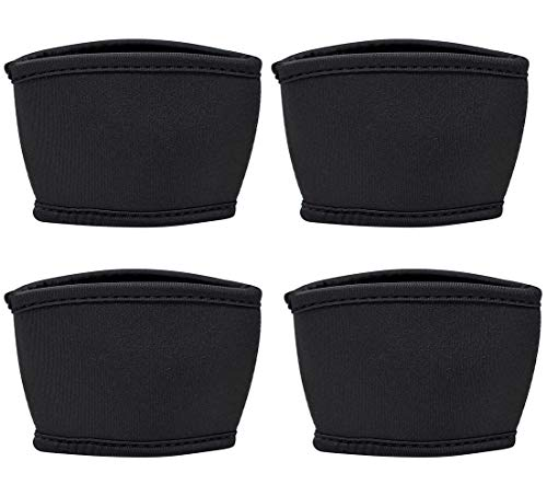 TahoeBay Coffee Cup Sleeves - 12, 16, and 20 oz Starbucks Compatible Reusable Neoprene Insulator (Black, 4)