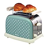 Toaster 2 Slice, Retro Small Toaster with Bagel, Cancel, Defrost Function, Extra Wide