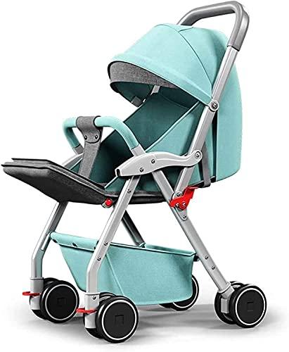 Cochecitos livianos cochecitos de bebé, cochecito de bebé sillas de jersey sillas altas vistas al bebé cochecito de bebé sentarse liedle plegable bebé paraguas cuatro ruedas cochecito de bebé elegante