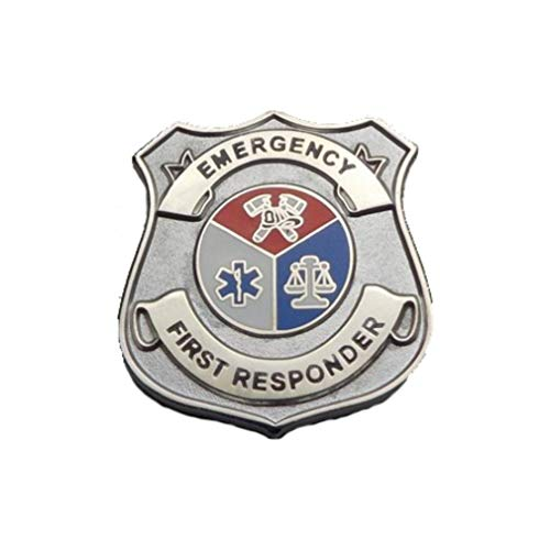 911 Market Emergency First Responder Silver Colour Lapel Pin EFR Mini Badge A 07