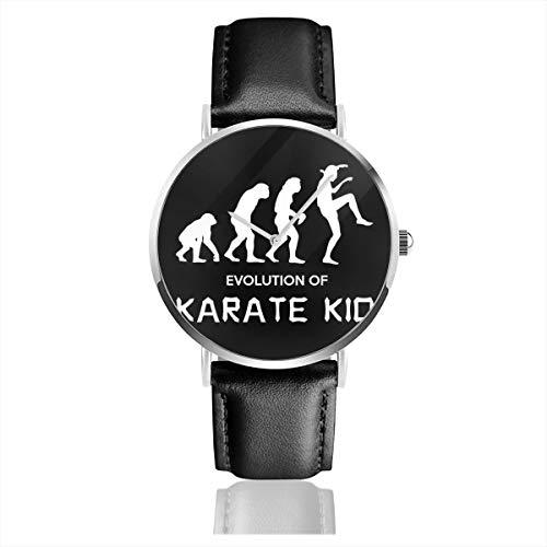 Unisex Business Casual Cobra Kai Evolution of Karate Kid Uhren Quarzuhr Leder schwarz Armband für Männer Frauen Junge Kollektion Geschenk