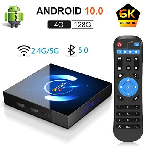 acheter avis Android 10.0 TV-Box, QPLOVE Q6 Android TV-Box 4 GB RAM 128 GB ROM H616 Quad-Core-Cortex-A53-Support 6K 3D-Dual-Band-WLAN 2.4G / 5G WiFi Bluetooth 5.0 H.265 Smart-TV- boîte