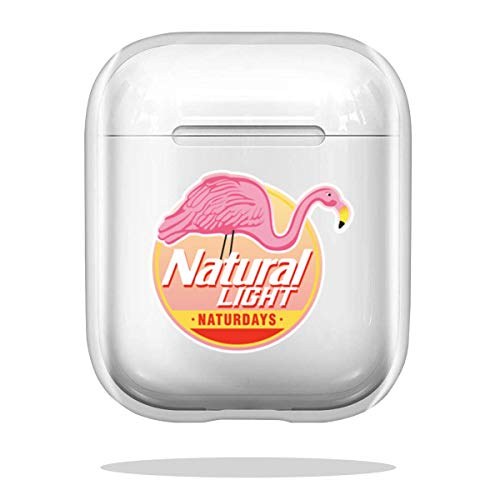 Case Cover Natural Light Natty Naturdays Flamingo Circle Logo Compatible with Airpod Pro Airpods Anti Waterproof Charm Shockproof