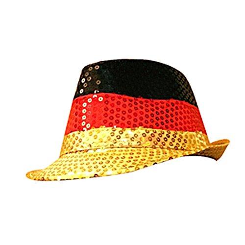 Preis am Stiel Hut \'\'Deutschland\'\' mit Pailletten | Fanartikel | Public Viewing | Fanartikel Deutschland | Fahnen & Flaggen | Hut für Männer & Frauen | Kopfbedeckung |
