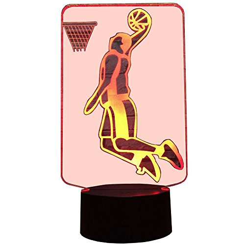 InnoWill Basketball décoration cadeau Veilleuse Lampe LED 7 Colors