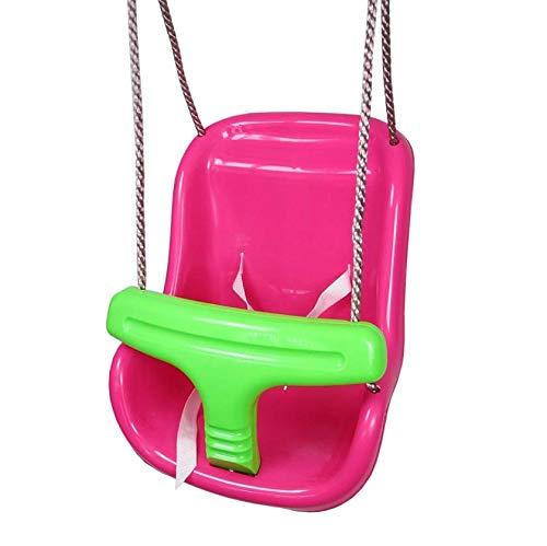 Gartenwelt Riegelsberger Babyschaukel 2-teilig Babysitz Schaukelsitz Schaukel für Babys & Kleinkinder, pink-apfelgrün