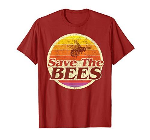 Rette die Bienen Damen Herren Save The Bees Vintage Geschenk T-Shirt