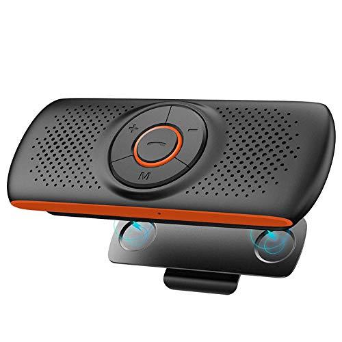 Netvip Kfz Bluetooth Freisprecheinrichtung Bluetooth Auto Freisprecheinrichtung Visier Car Kit Mit DSP Technologie Unterstützt GPS,Musik,Handsfree für 2 Telefone Gleichzeitig