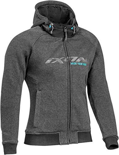 Ixon Palermo Chaqueta textil para mujer, color gris oscuro, XL