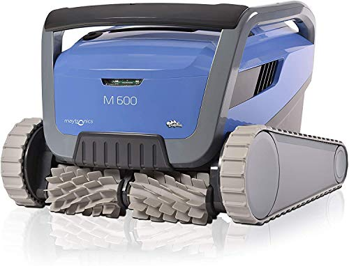 Dolphin M600 Robotic Pool Cleaner with Easy to Clean Top Load Filter to Suit up to 15m Pool. Suits Both in ground and Above Ground Pools. Cleans Waterline, Wall and Floor.