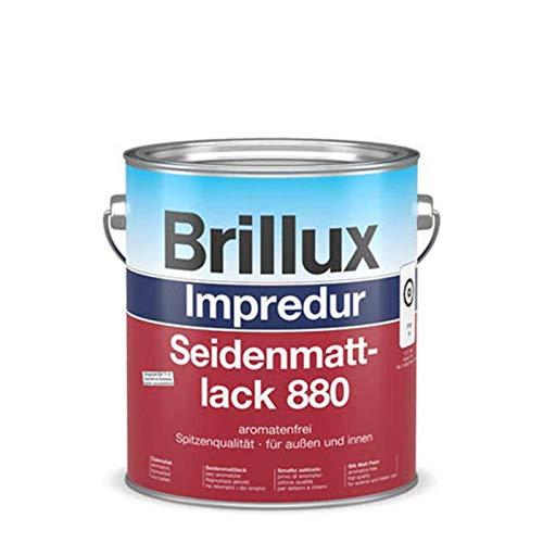 Brillux Impredur Seidenmattlack 880 außen/innen 0,75 Liter Farbwahl, Farbe (RAL):RAL 8011 Nussbraun