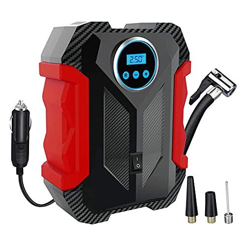 Awindshade Portable Air Compressor for Car Tires, Portable Digital Car Tire Inflator, 12V DC with...