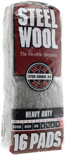 Homax Products 4 4 Homax Steel Wool Pad, No Grit, Gray