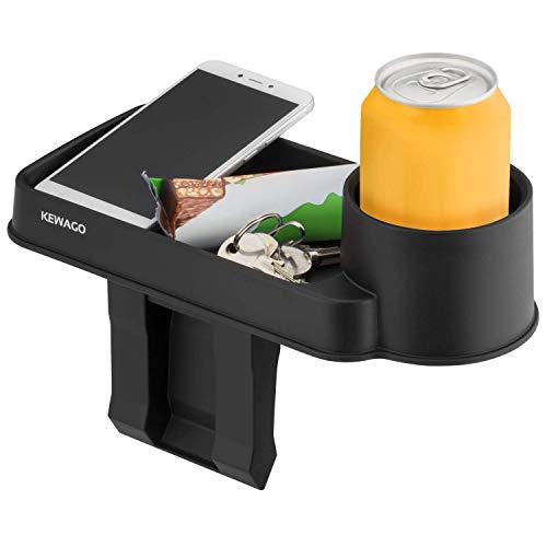 Kewago Auto Organizer mit Getränkehalter fürs Auto. Die Autoablage für Reise und Alltag - Ordnung im Innenraum für Vordersitze und die Rückbank