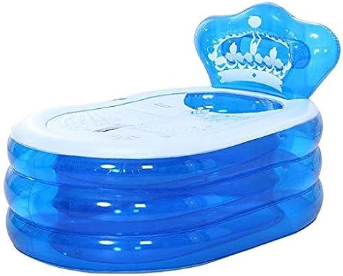 Aufblasbare Badewanne, Verdickt Erwachsenen Aufblasbaren Pool Tragbaren Haushalt Bad Barrel, Multi-Größe (Farbe   Blau, Größe   160 × 90 ×75cm)