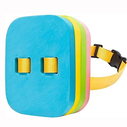 Cinturón de natación con flotador trasero, tablero de equipo de entrenamiento de natación con capas ajustables, cinturones de burbujas Hebilla de clip seguro para lecciones de agua, niños pequeños,