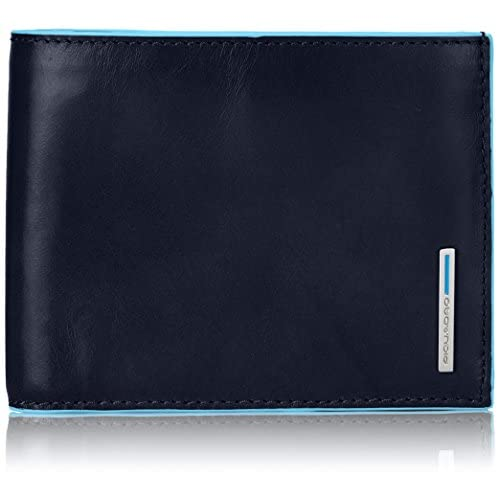 Piquadro PU1240B2/BLU2 Blue Square Portafoglio, Blu, 12 cm