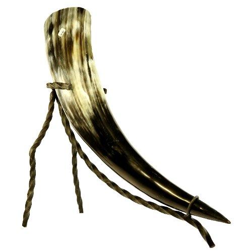 Trinkhorn ca. 0,3l mit Trinkhornständer Methorn mit Horn Ständer