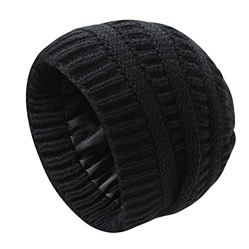 Nogewul Cute Black Knit Beanie Hats…
