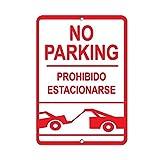 RTOUTS No Parking Prohibido Estacionarse Señal de Estacionarse Metal Retro Tin Sign Placa Antigua Cartel de Sala Bar Pub Home Vintage Aluminio para Decoración de Pared 20 x 12 pulgadas