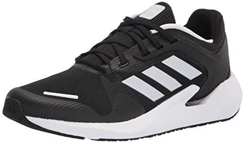 adidas Men's Alphatorsion Running Shoe, Black/White/Black, 10.5