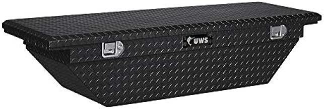 UWS EC10302 63-Inch Gloss Black Heavy-Wall Aluminum Angled Truck Tool Box with Low Profile, RigidCore Lid