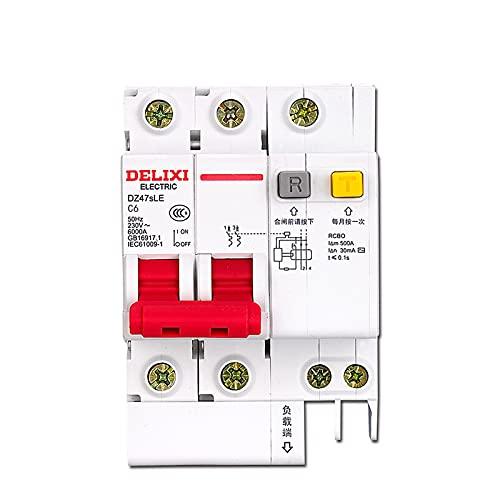 Interruptor de protección contra fugas - DWLIXI DZ47SLE-2P 6KA Interruptor automático accionado por corriente residual tipo C (9 Opciones)(63A)