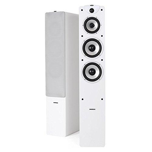 Dynavoice Magic F-7 EX v3 White - Coppia Diffusori Acustici da Pavimento 3 Vie Bass Reflex per Hi-Fi e Home Cinema. Cabinet in legno MDF con finitura venato legno.