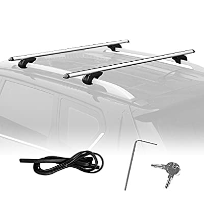 Summates Universal Roof Top Cargo Rack Crossbar-1Pair