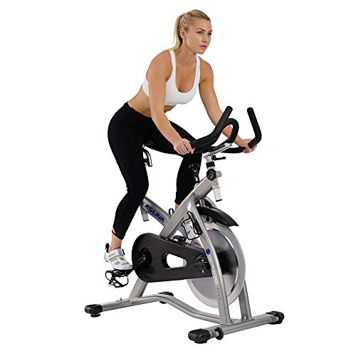 ASUNA 7100 Sabre Cycle Exercise Bike - Magnetic Belt Drive Commercial Indoor Cycling Bike with SPD Style / Cage Pedals, 285 LB Max Weight and Low Q-Factor