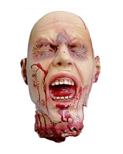 Horror-Shop Abgehackter, blutiger Kopf lebensgroß Halloween Deko