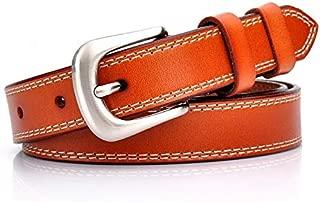 Happy-L Classic Women's Belt Leather Belt Fashion Wild Retro Casual Belt Simple Pin Buckle Belt (Color : Brown)