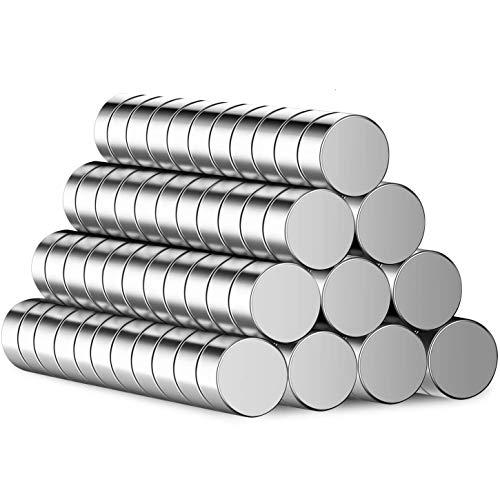 BUSATIA 110 Stück Magnete, Mini Magneten mit Aufbewahrungsbox, Klein Supermagnete für Kühlschrank, Whiteboard, Magnettafel bänder, Pinnwand
