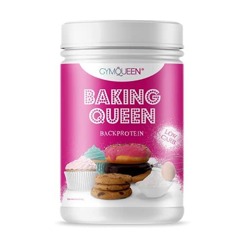 GymQueen Baking Queen Backprotein 475g, Proteinmischung zum Kochen und Backen, mit Backtriebmittel (Natron), mit Verdickungsmittel (Xanthan), Glutenfrei, Low Carb, Neutral im Geschmack