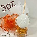 bomboniere profumatore diffusore con Applicazione pumo in Ceramica di grottaglie (3 profumatori con Scatola)