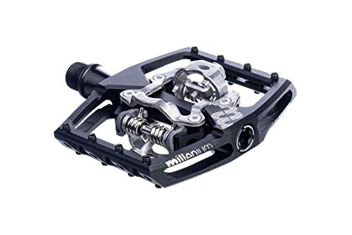 SixPack Racing Millenium Pédales Automatique VTT Adulte Unisexe, Noir/Chrome, Unique