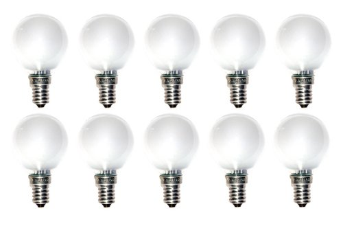 10 x Glühlampe Glühbirne Tropfen Kugel E14 25W 25 Watt matt 230V Leuchtmittel