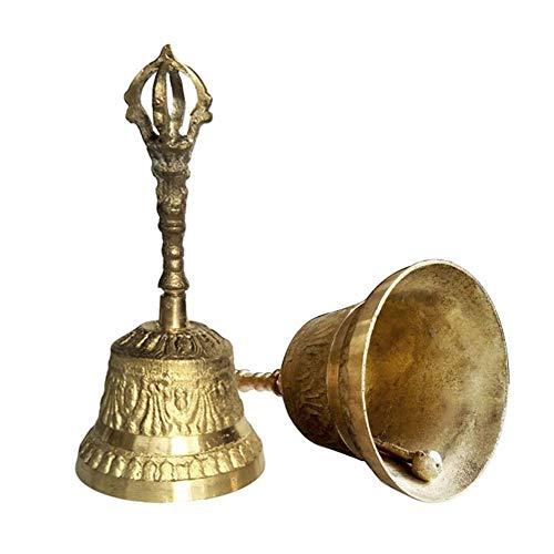 Maliyaw Campana de latón Campana de Llamada de Mano de