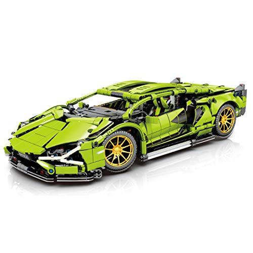 OATop 1254 Teile Technik Bausteine Auto für Lamborghini Centenario, 1: 14 Sportwagen mit LED-Licht Bausteine Kompatibel mit Lego Technic