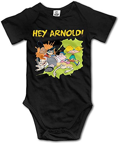 FGRFQ Combinaison Bébé Hey Arnold Baby Girls/Boys Short Sleeve Bodysuit