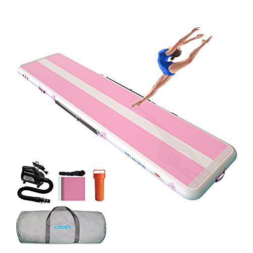 WelandFun Air Tumbling Track 3/4/5/6M Tapis Gonflable de Gymnastique Tapis de culbuteur Tapis de Gymnastique Gonflable pour l'exercice