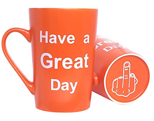 MAUAG Funny Christmas Gifts Coffee Mug Have a Great Day Cute Cool Cup Orange, Best Birthday and...